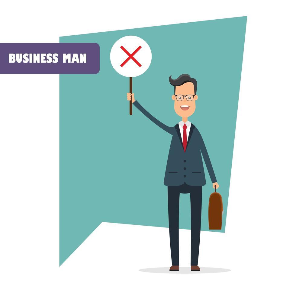 carattere dell'uomo d'affari isolato vettore