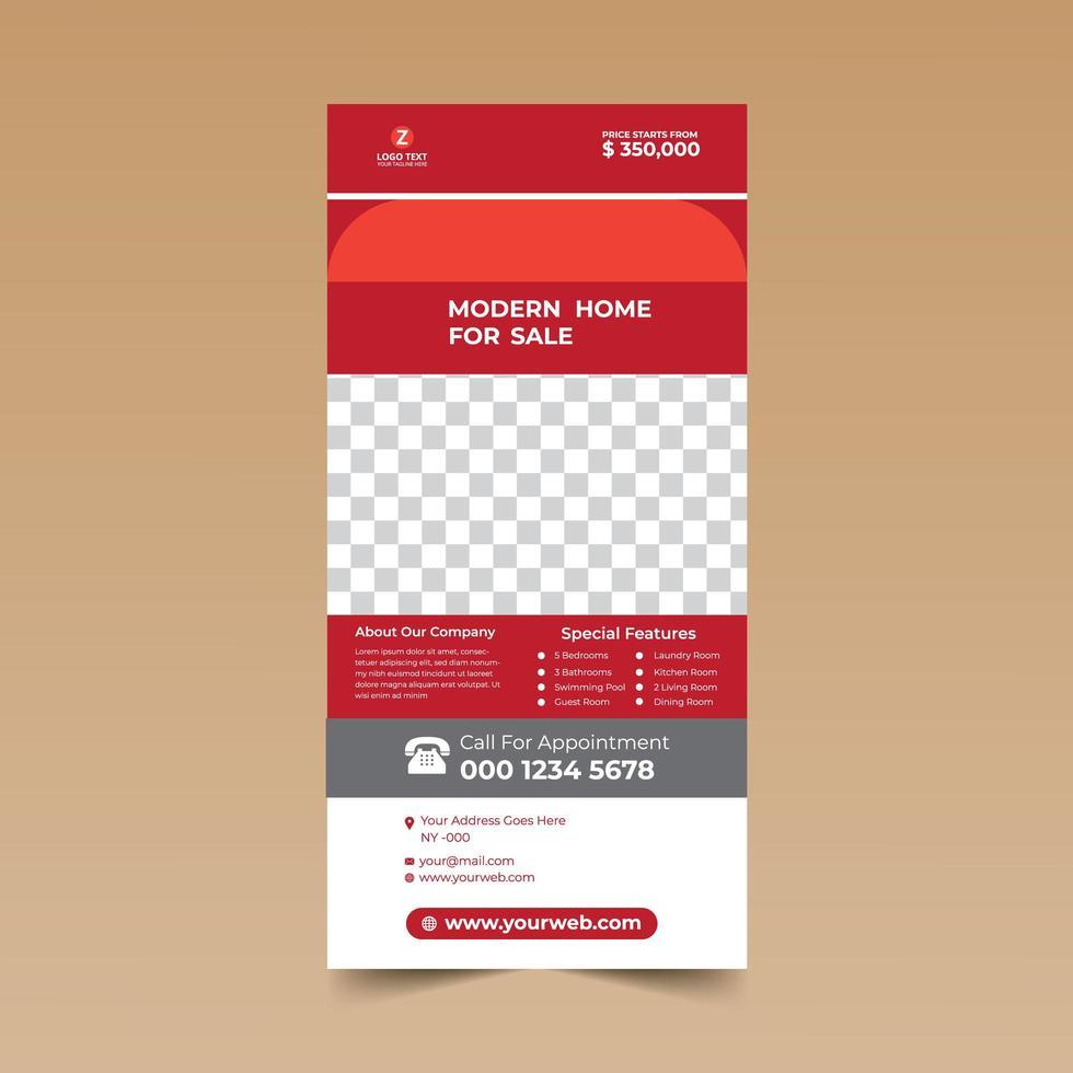 modello di progettazione di carta rack minimalista rosso vettore