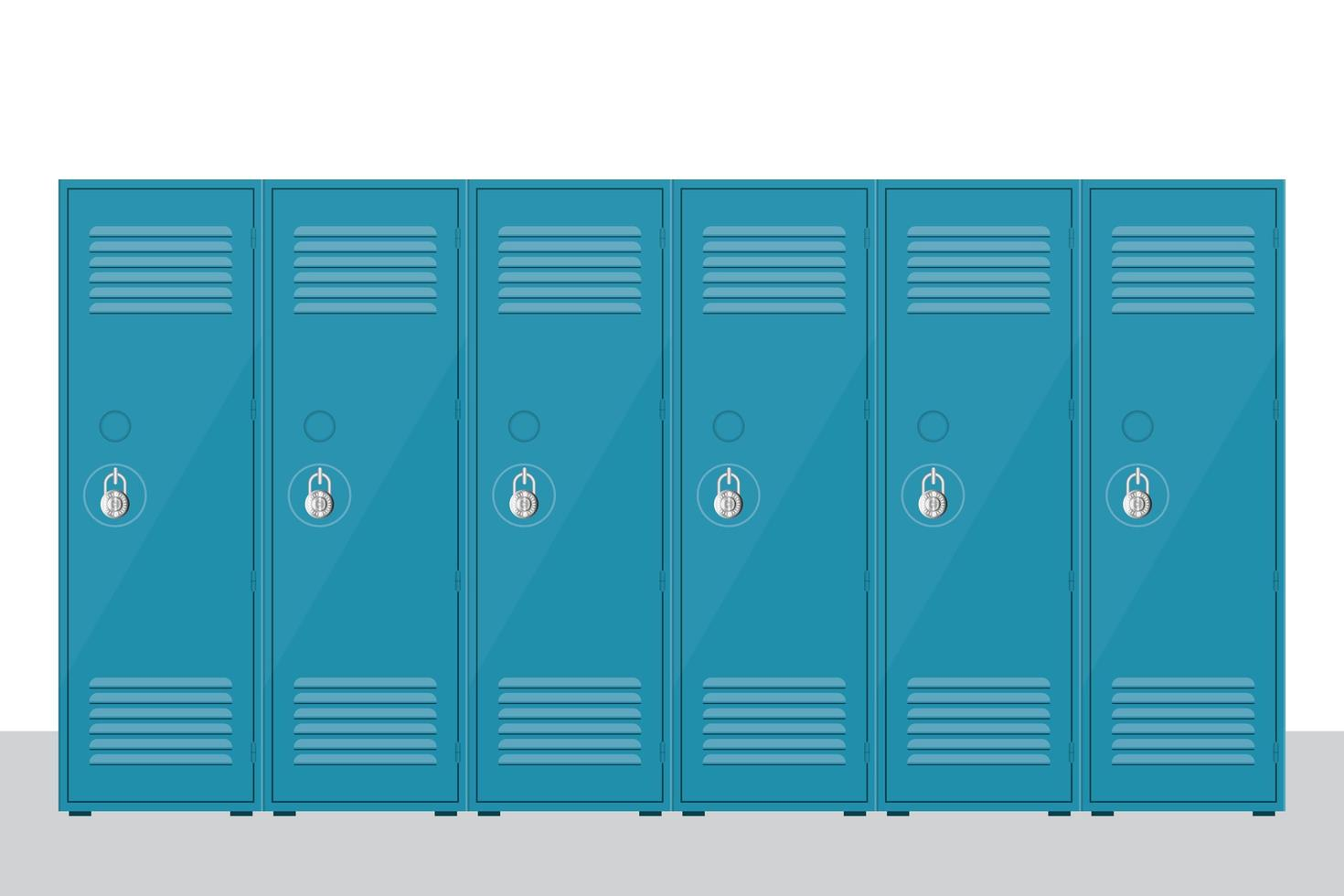 raccolta di armadietto scuola di metallo isolato vettore