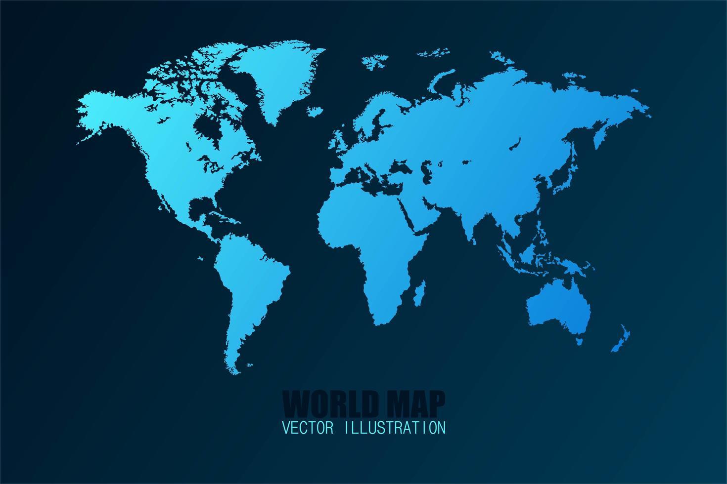 mappa del mondo isolata vettore