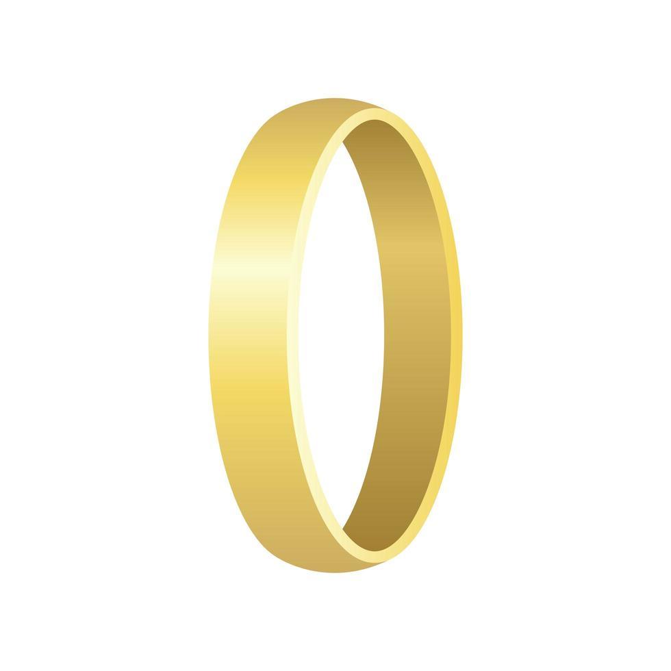 anello di nozze isolato vettore