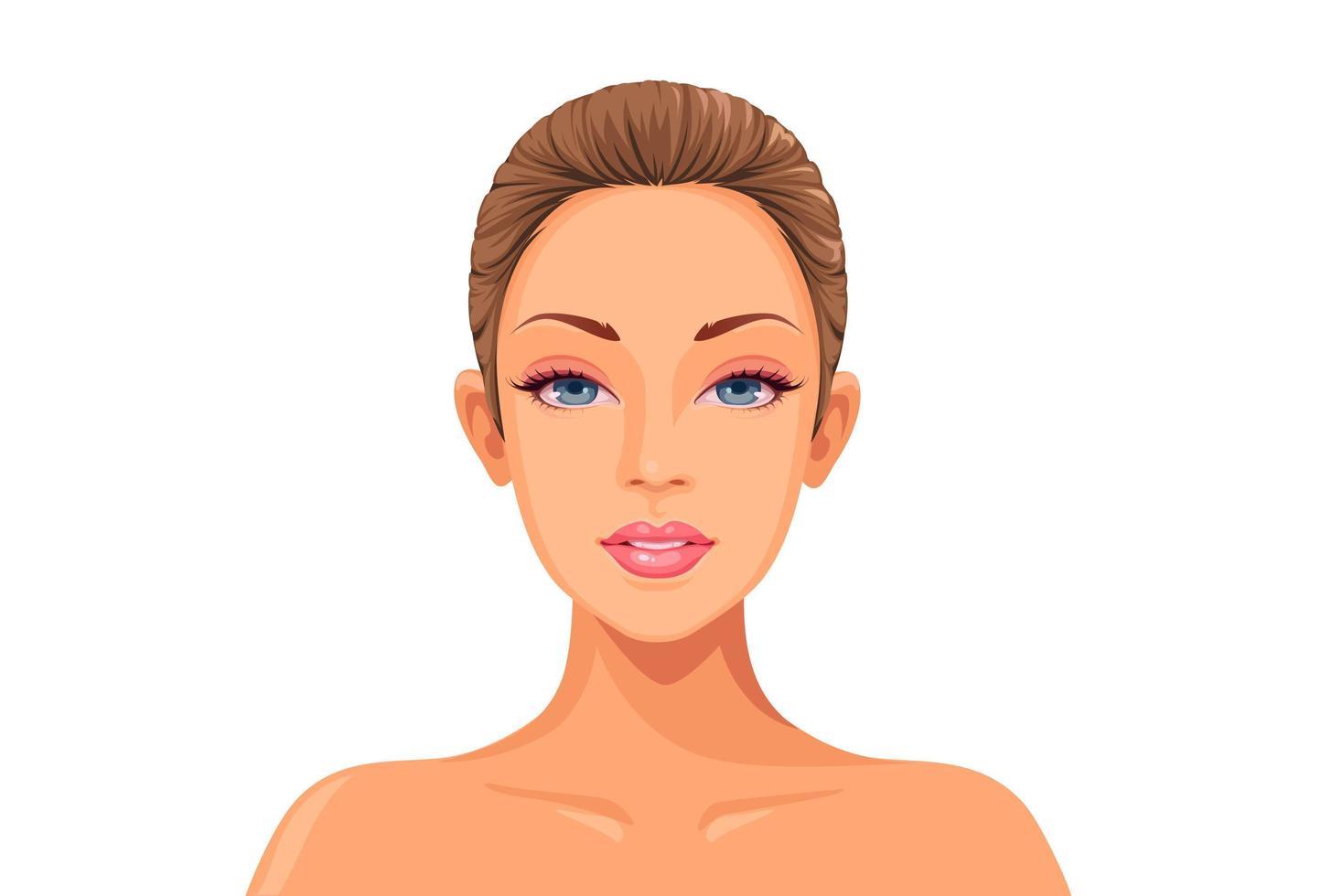 avatar di volto di donna vettore