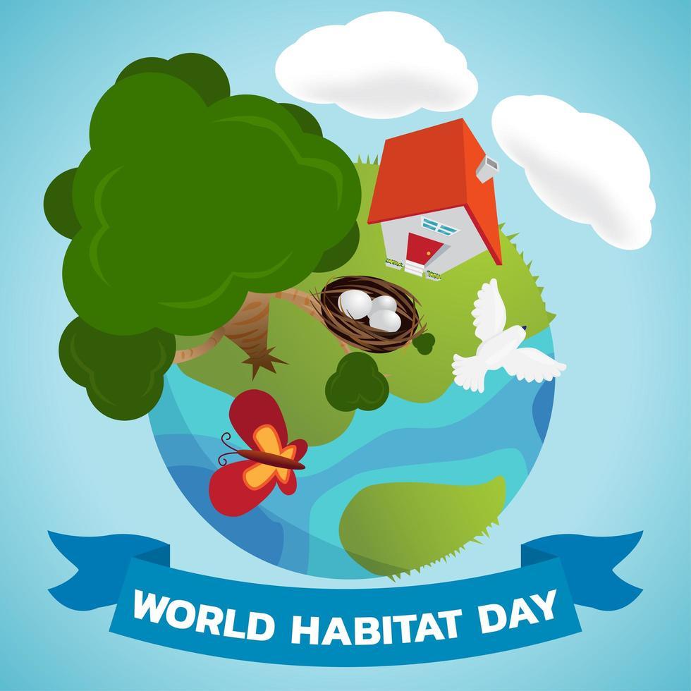 progettazione della giornata mondiale dell'habitat vettore