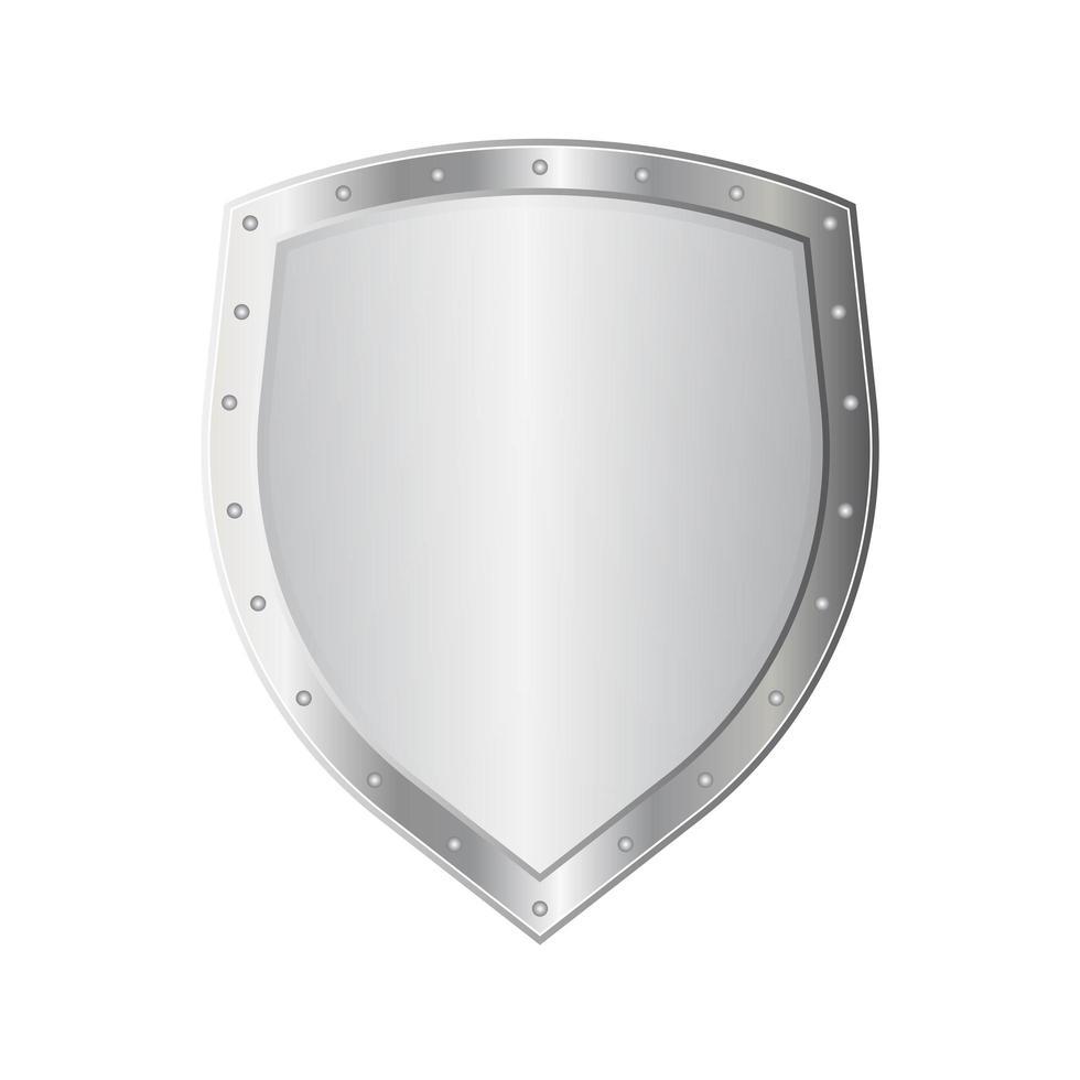 scudo di metallo isolato vettore