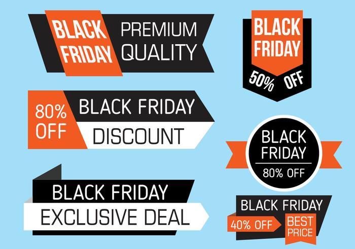 Vettore di banner di Black Friday gratis