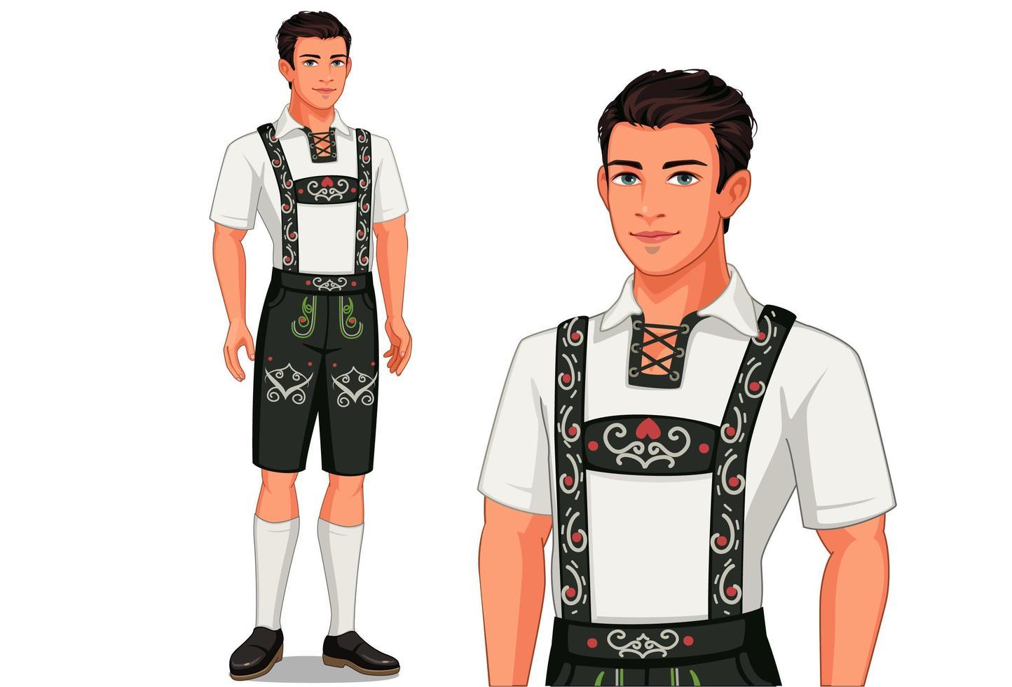 uomo in abito tradizionale tedesco vettore