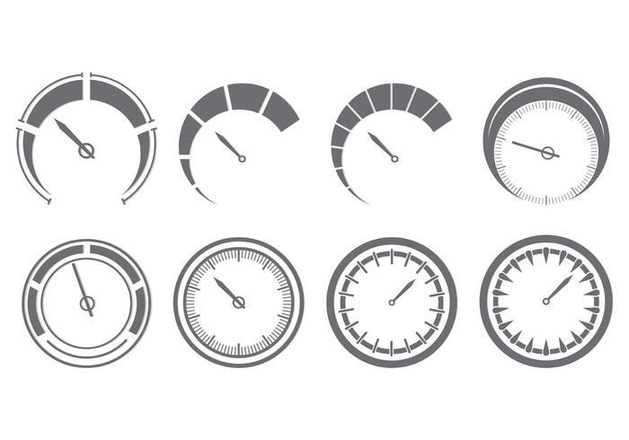 Set di icone del tachimetro vettore