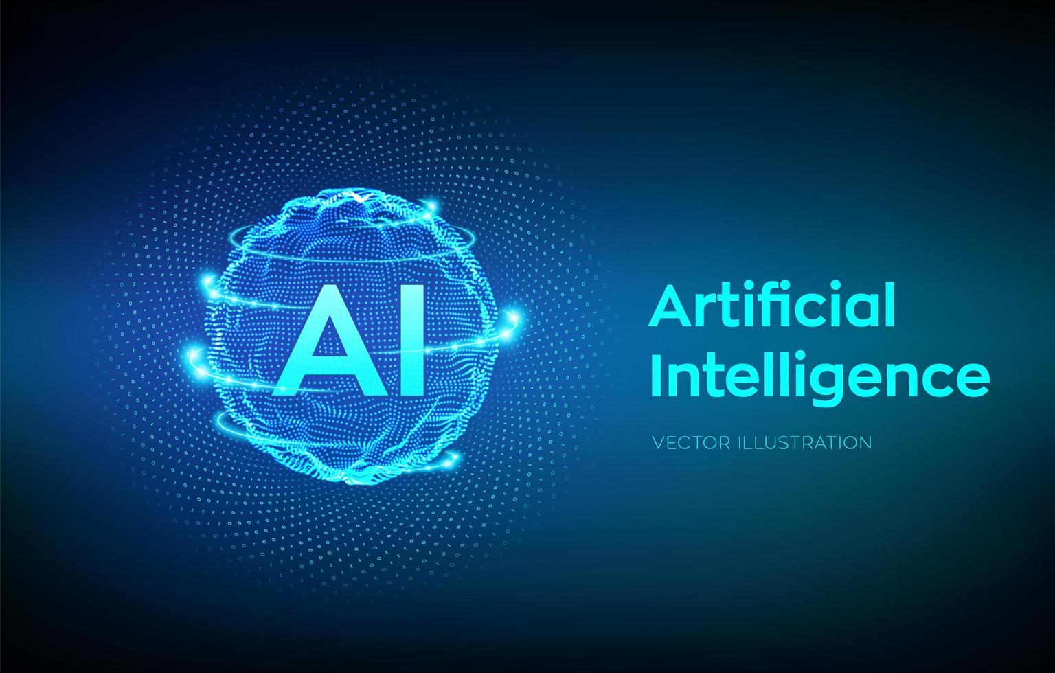 concetto di sfondo di intelligenza artificiale vettore