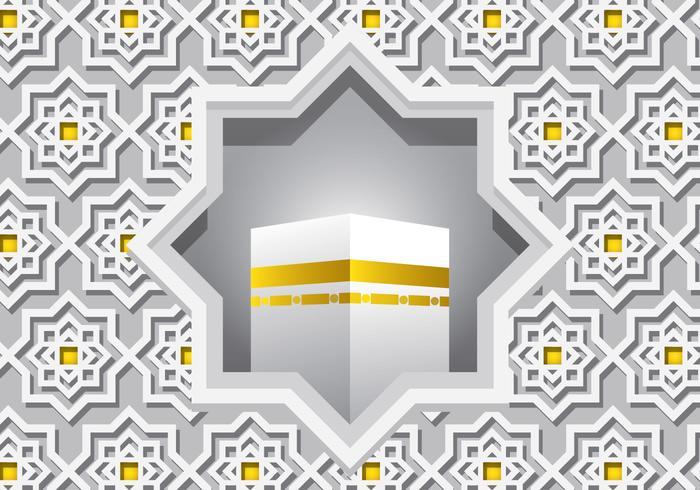 Decorative White Ka'bah Vector