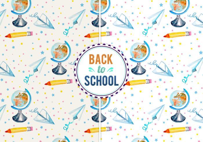 Illustrazione vettoriale di ritorno a scuola gratis