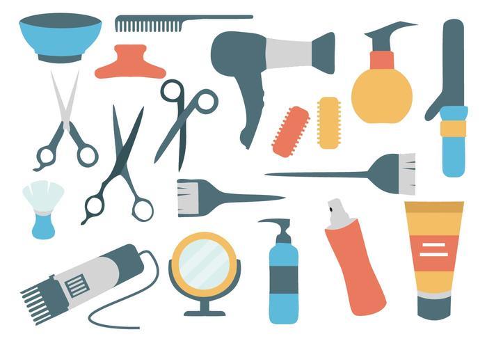 Vettore del salone di lavoro di parrucchiere