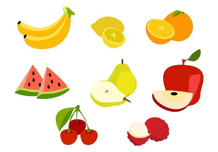 Frutta tagliata vettoriale