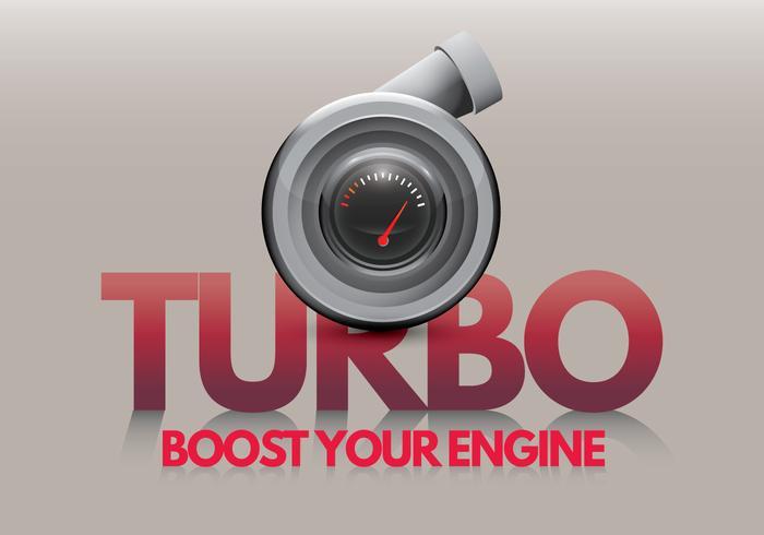 Turbocompressore Spinta il tuo motore vettore