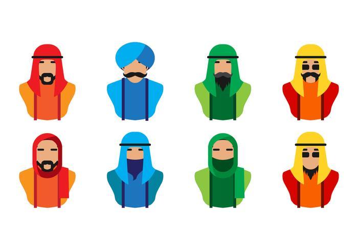 Vettore arabo dell'icona della gente