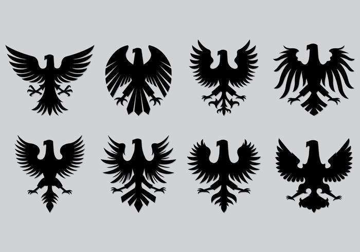 Set di icone polacche dell'aquila vettore