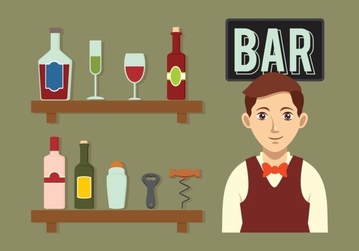icone vettoriali barman