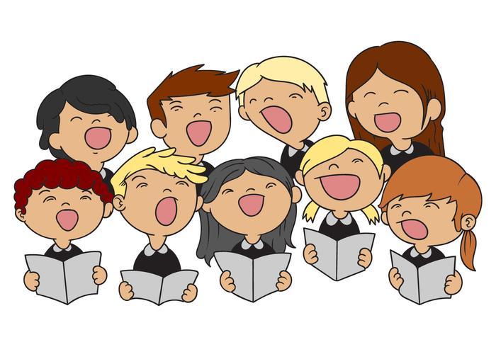 Vettore dell'illustrazione del coro dei bambini
