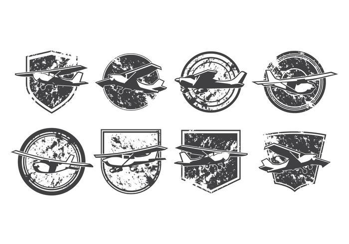 Vettore leggero di logo dell'aeroplano