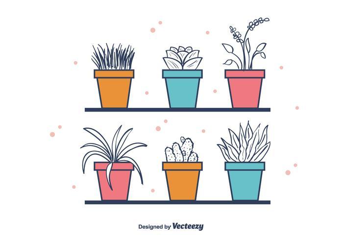 Vettore libero delle piante della Camera