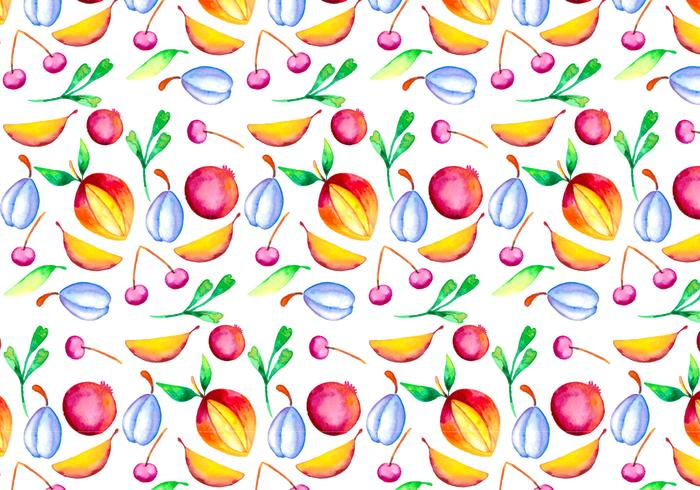 Illustrazione di frutta acquerello vettoriale