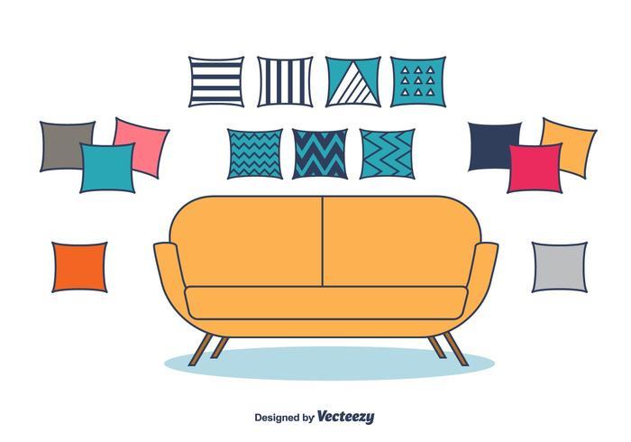 Vettore decorativo dei cuscini