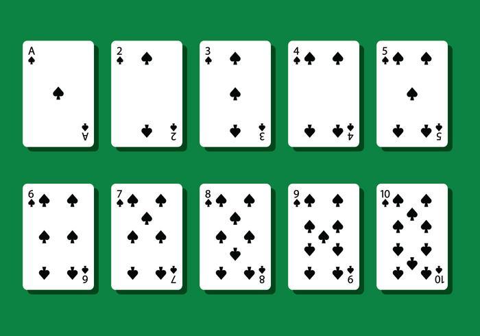 Vettori di carte da poker Spade