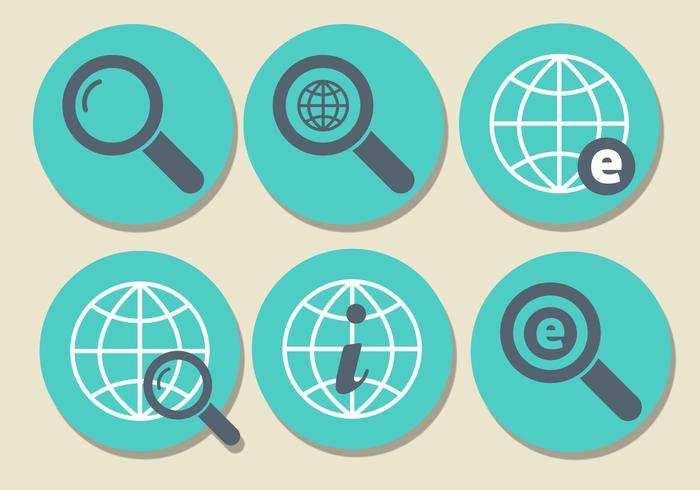 Set di icone di Internet Explorer vettore