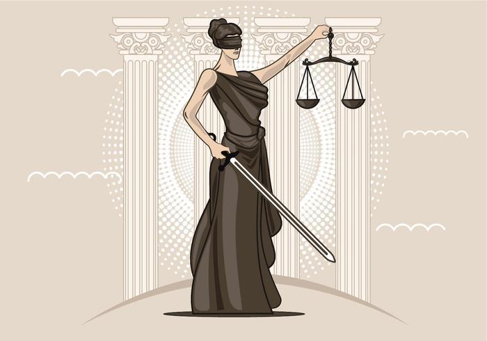 vettore della signora della giustizia
