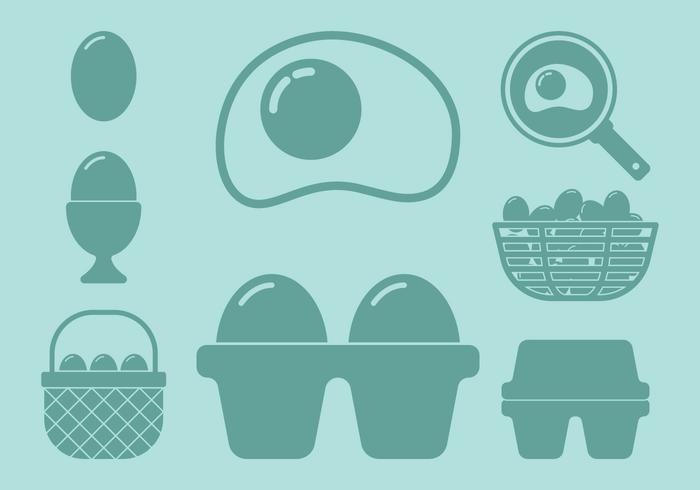 Icone di uovo vettore