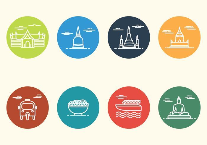 Icona minimalista di Bangkok gratuita vettore