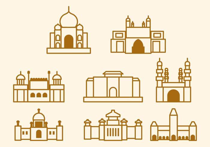 India Landmark Vector gratuito
