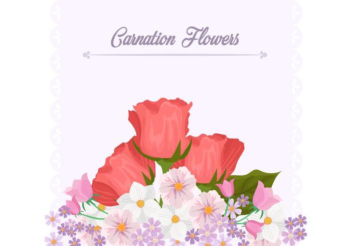 Modello di sfondo fiore garofano vettore