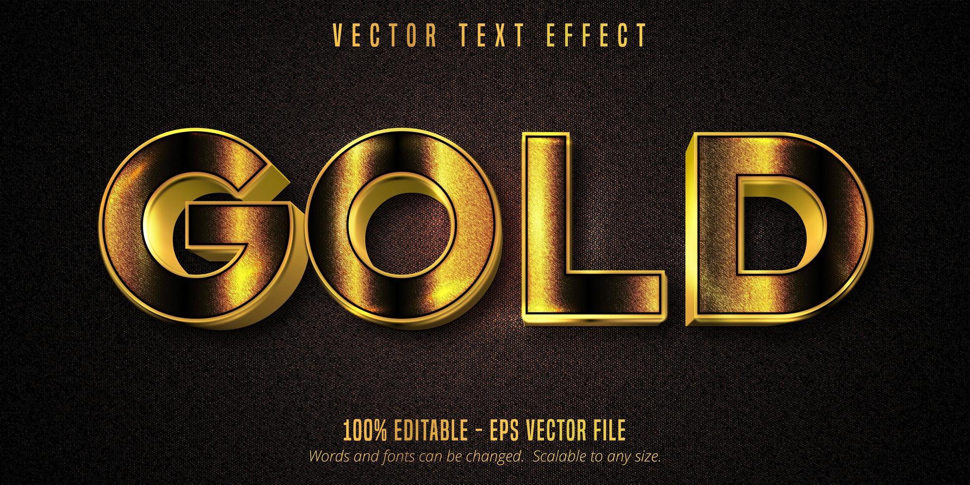 effetto di testo modificabile in stile dorato lucido oro vettore