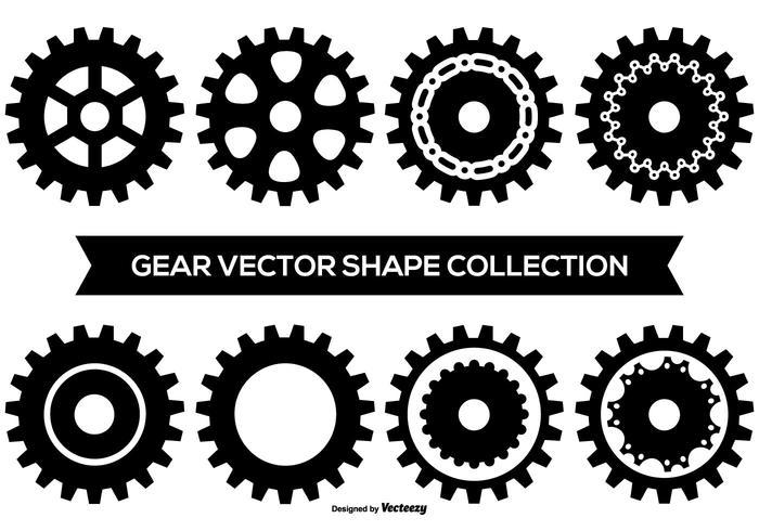 Collezione di forme Gear vettore