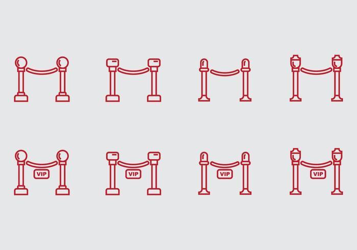icona di corda di velluto vettore