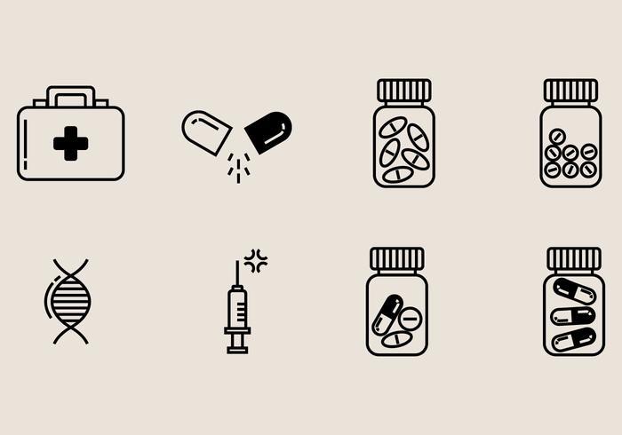Icona della scatola della pillola vettore