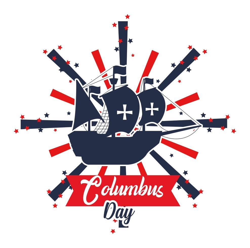 banner di columbus day vettore