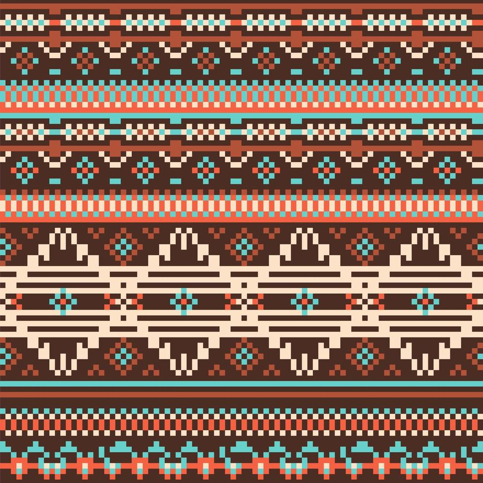 modello senza cuciture tribale etnico vettore
