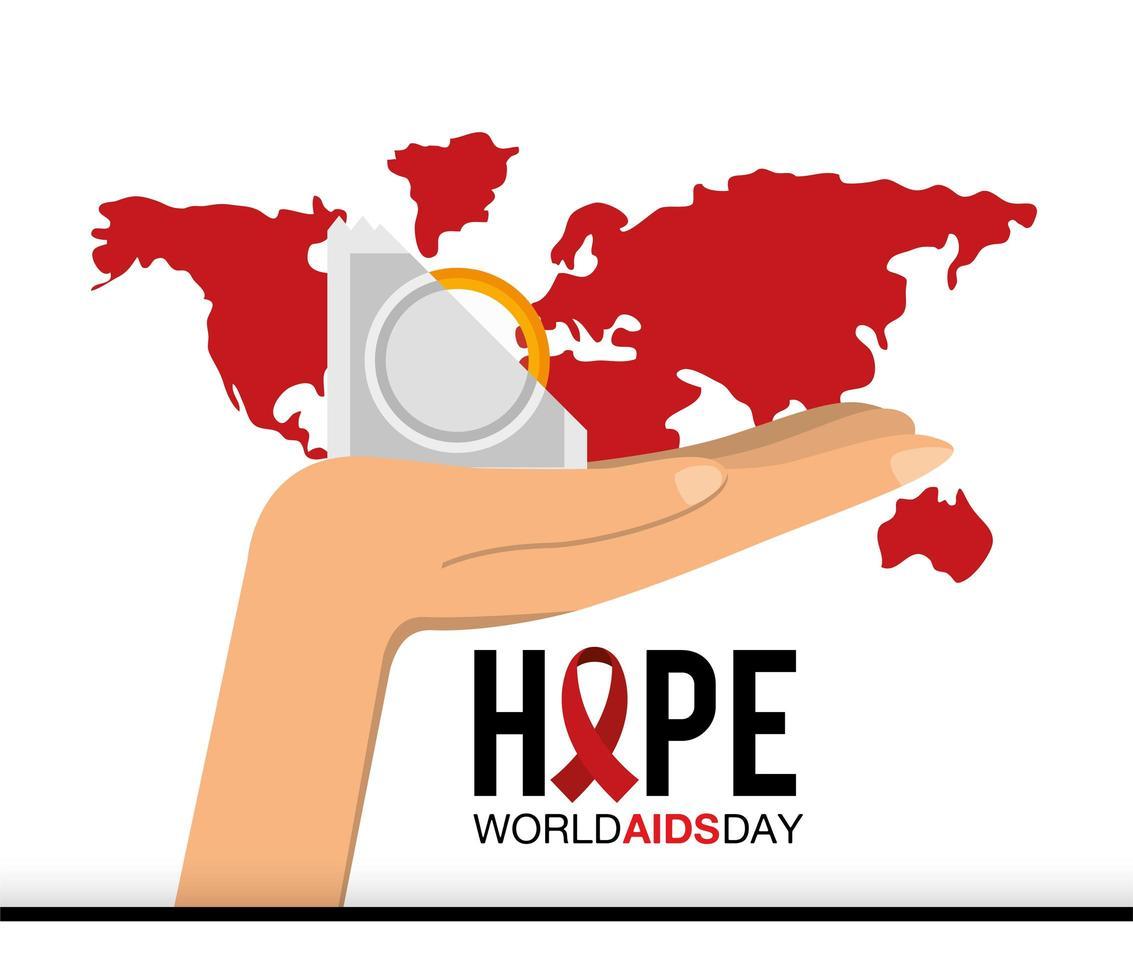 banner della campagna per la giornata mondiale contro l'AIDS vettore