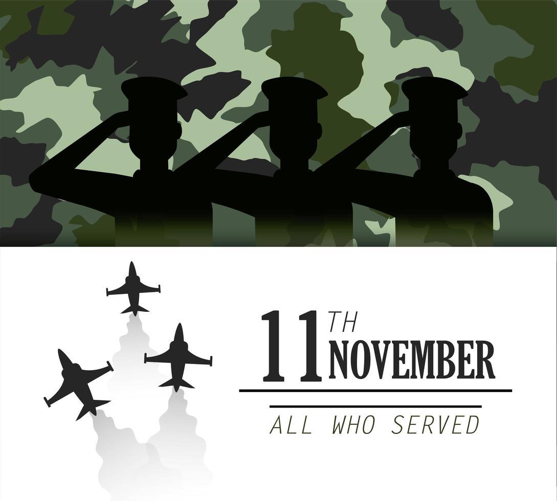 veterani e design della celebrazione del memorial day vettore