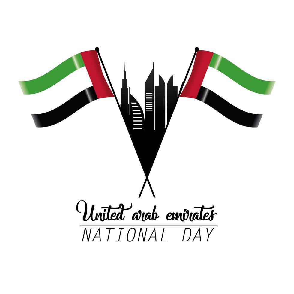 celebrazione della giornata nazionale degli Emirati Arabi Uniti vettore
