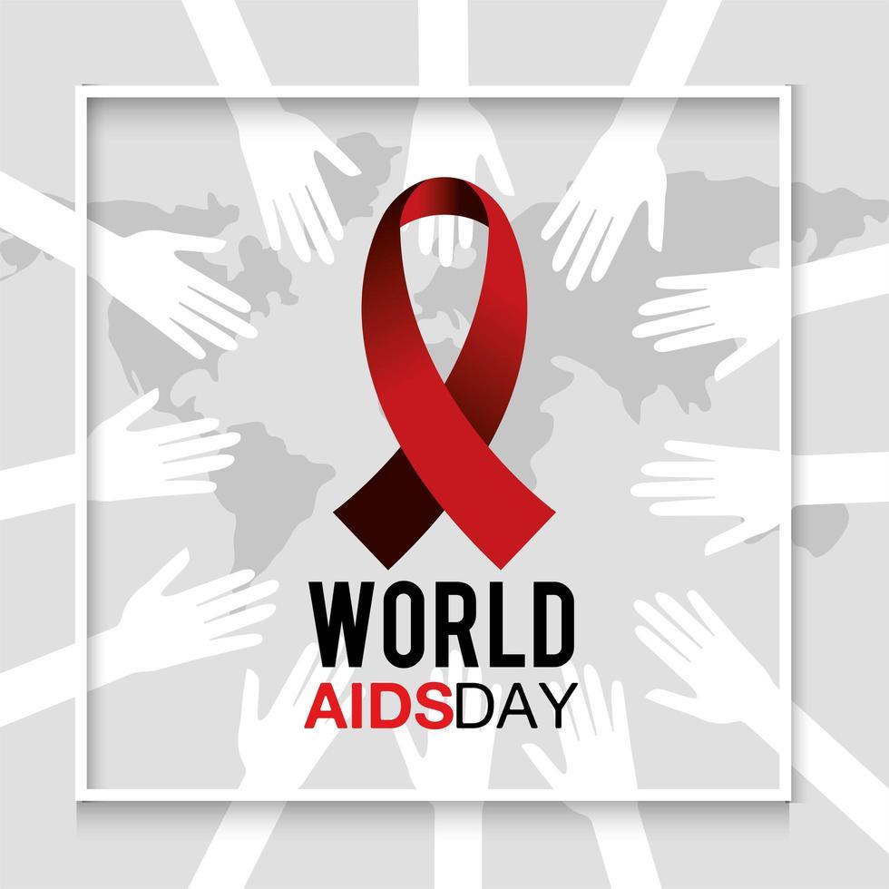 banner per la prevenzione della giornata mondiale contro l'AIDS vettore