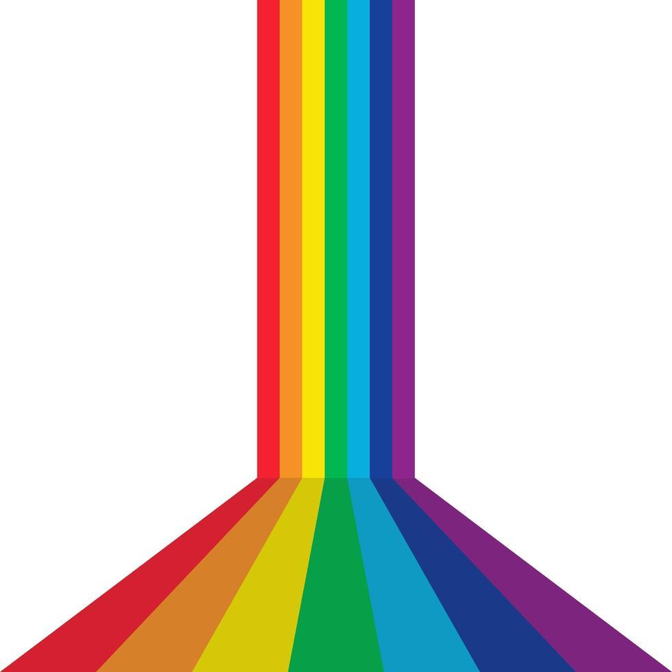 sfondo prospettiva arcobaleno vettore