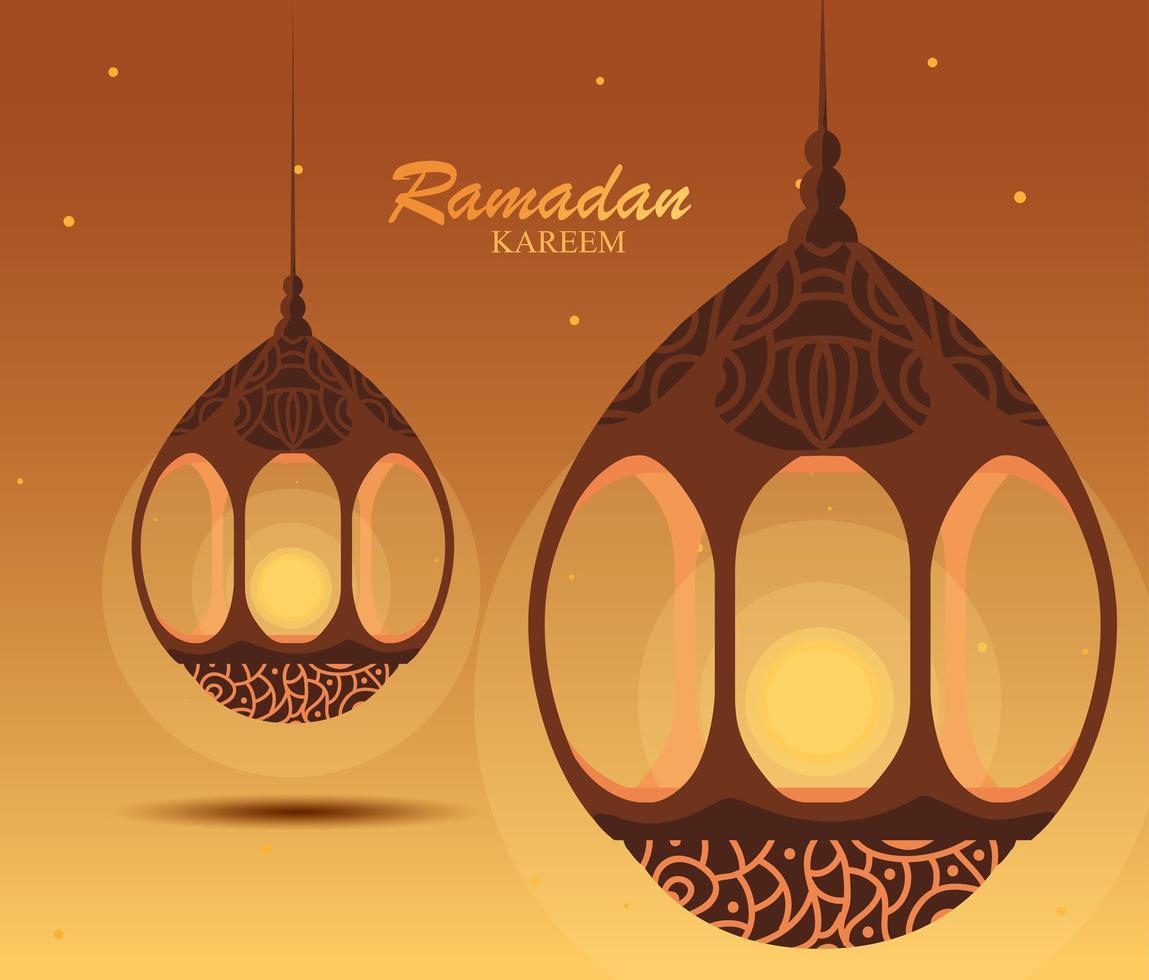 Lampade Ramadan Kareem A Sospensione Tradizionale vettore
