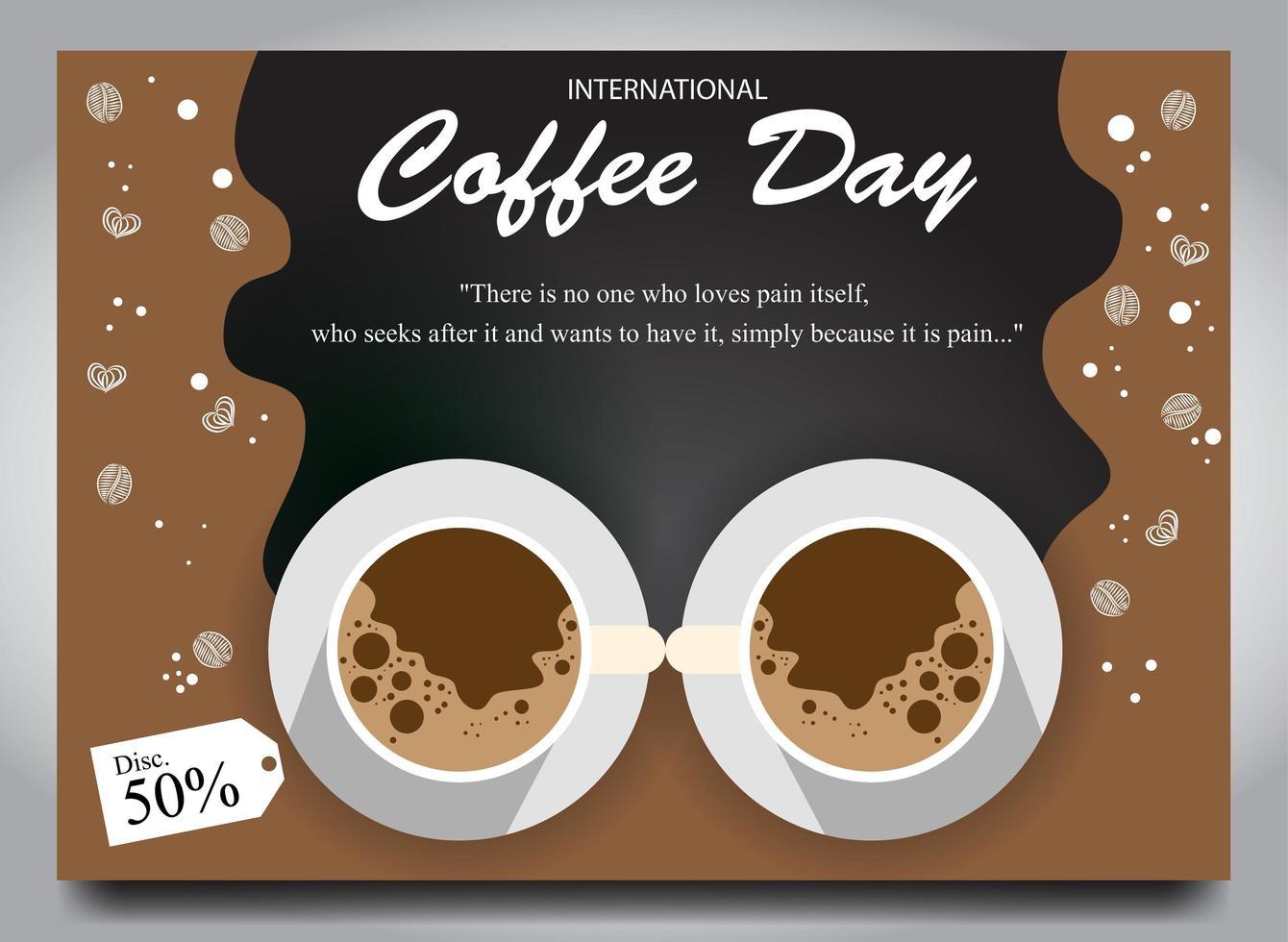 poster per il giorno del caffè vettore