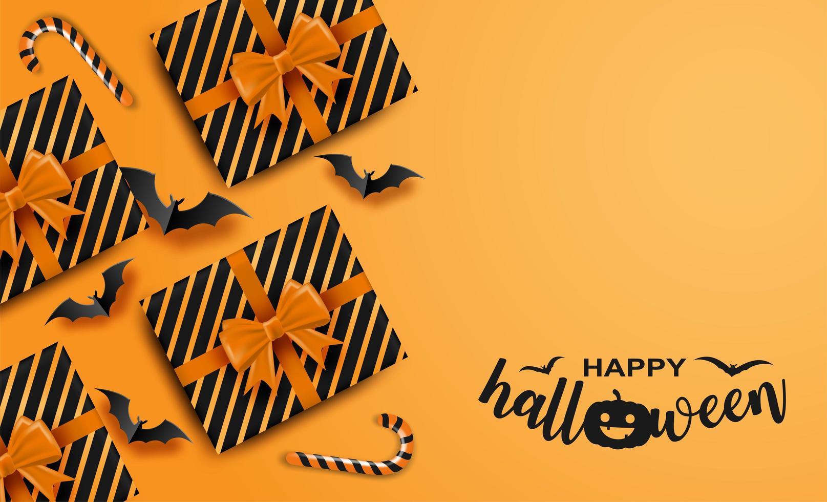 felice carta di halloween vettore