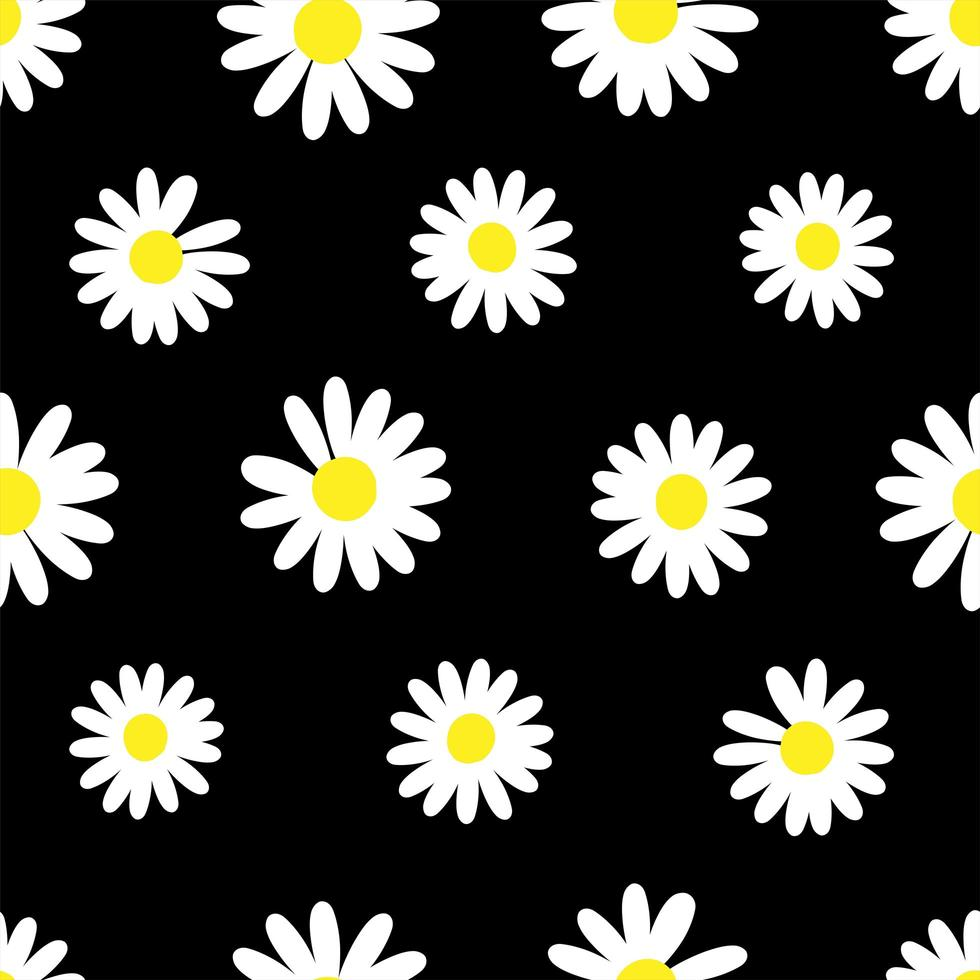 motivo di sfondo fiore margherita vettore