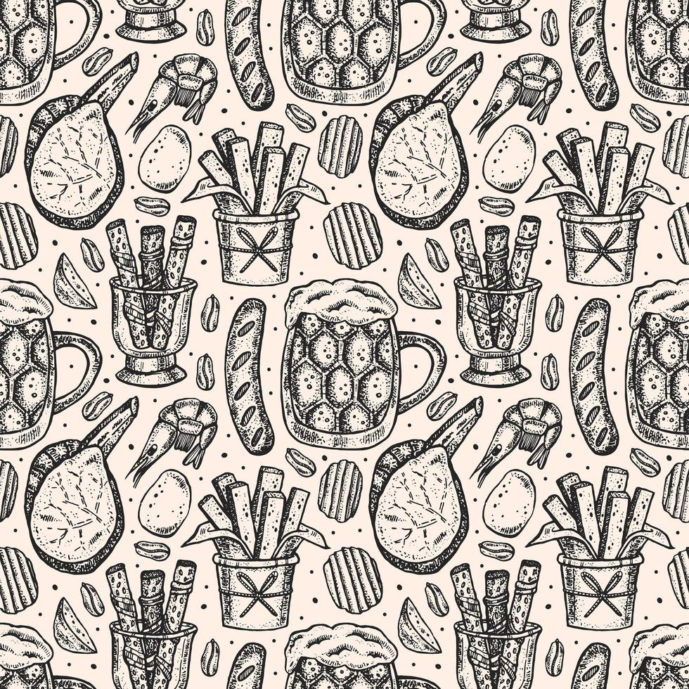 Oktoberfest schizzo stile seamless pattern vettore