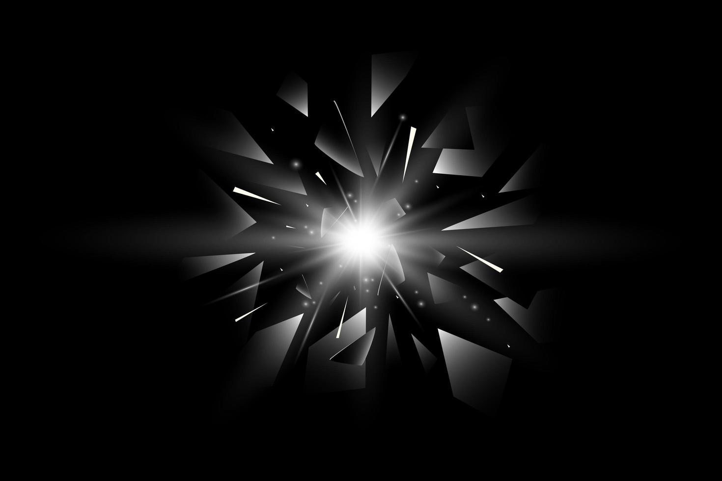 stella realistica con frammenti di vetro rotto vettore