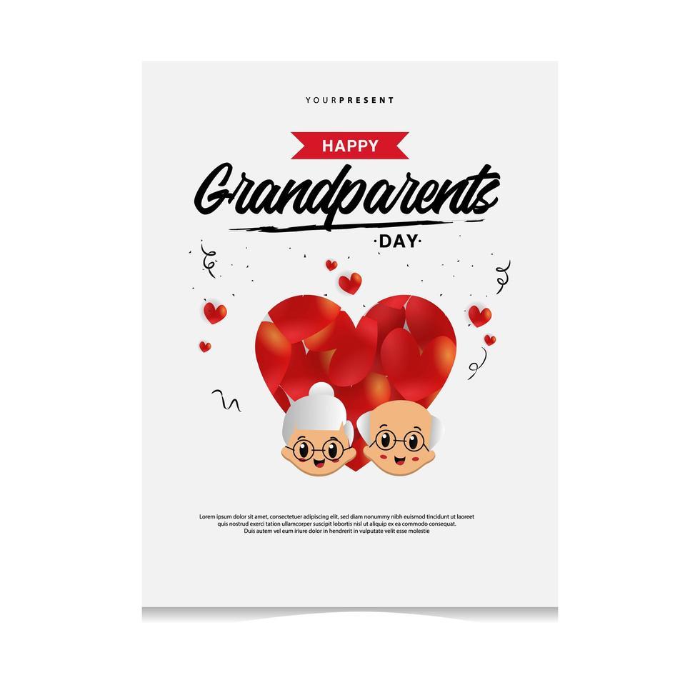 design biglietto di auguri per il giorno dei nonni vettore